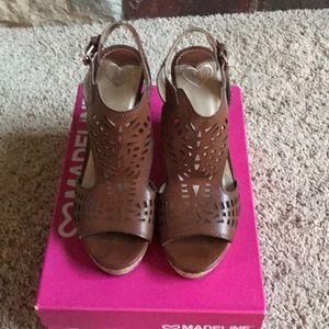 Madeline Brown Wedge Sandal